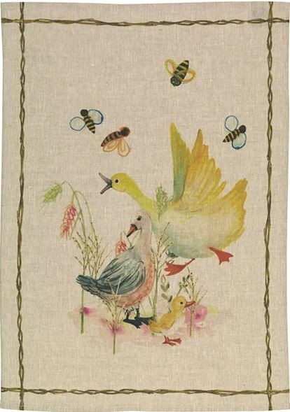 Tea Towel Linen – Ducks