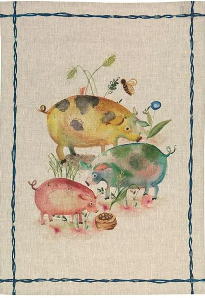 Tea Towels Linen – Fat pigs