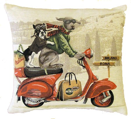 Belgium Cushion – Red Scooter