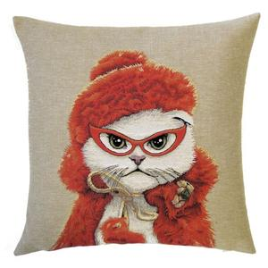 Belgium Cushion – Red cat