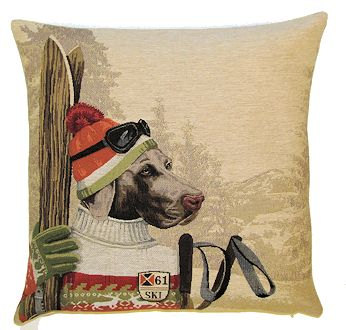 Belgium Cushion – Ski Dog