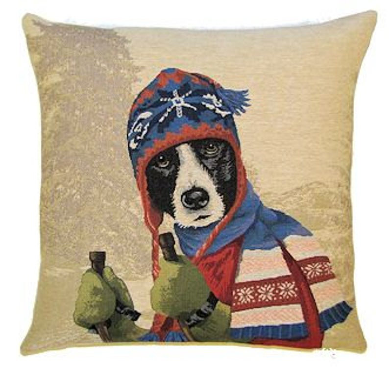 Belgium Cushion – Winter Dog