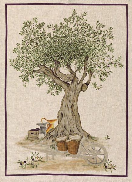 Tea Towels Linen – Olive Tree