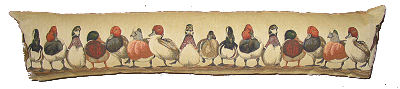Belgium Cushion,Ducks in a row