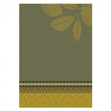 Hand towels Cotton weave-Jacquard Le Francais-Citronnier