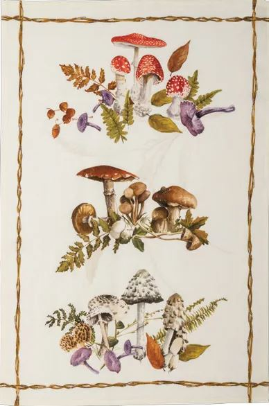 Tea Towels  Italian Linen- wild mushrooms