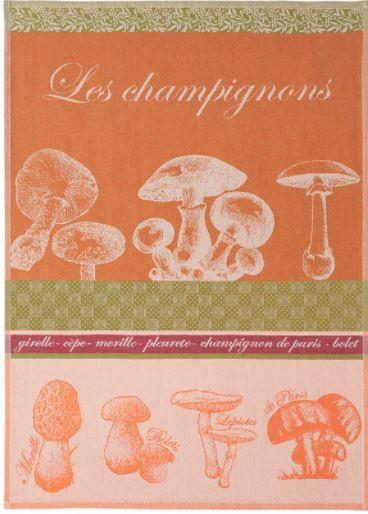Tea towel- Cotton mushrooms