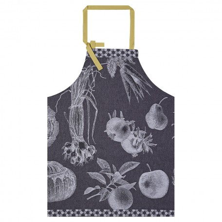 Apron  Cotton – Jacquard Le Francais – Black Radish
