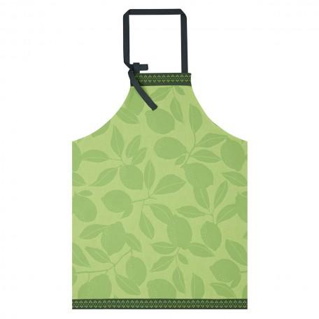 Apron  Cotton-Jacquard Le Francais Citronniers green