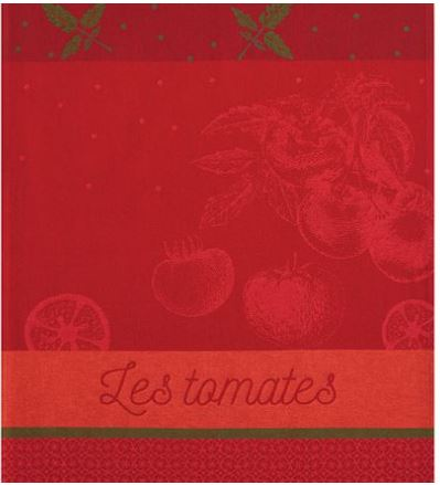 Tea towels  – Cotton Jacquard woven Tomato