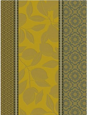 Tea towel Cotton weave-Jacquard Le Francais-Citronnier