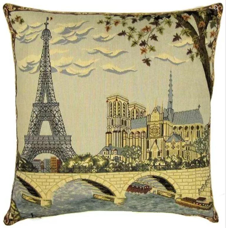 Belgium Cushion – Paris blue
