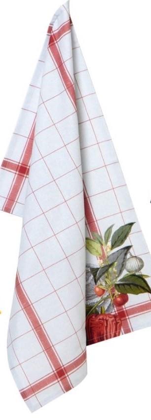 Tea towel Cotton IHR red