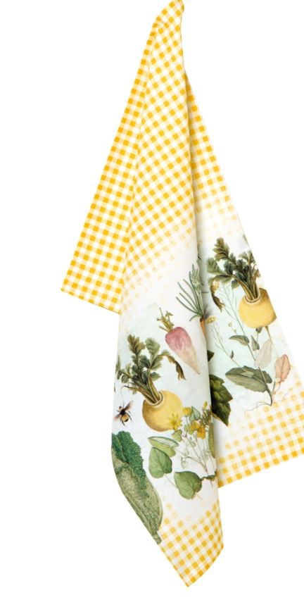 Tea towel Cotton IHR yellow