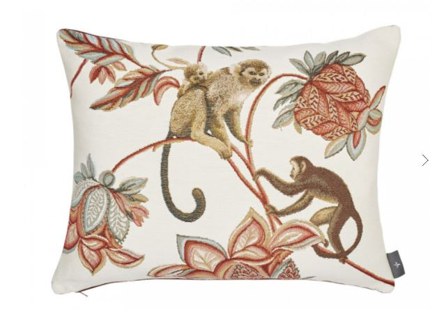 French Cushion – monkey