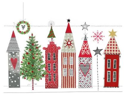 Napkins  Paper – Luncheon – Christmas houses