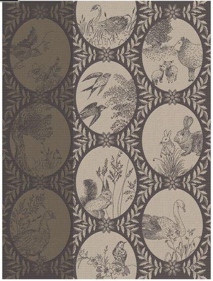 Tea towel Cotton weave-Jacquard Le Francais – Josephine grey