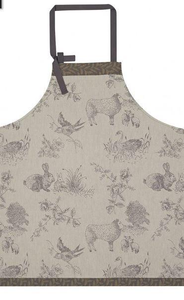Apron  Cotton – Jacquard Le Francais – Josephine grey