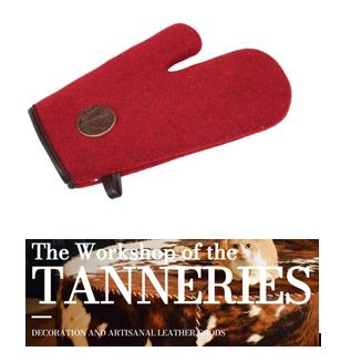 Pot holders hand made in France – red